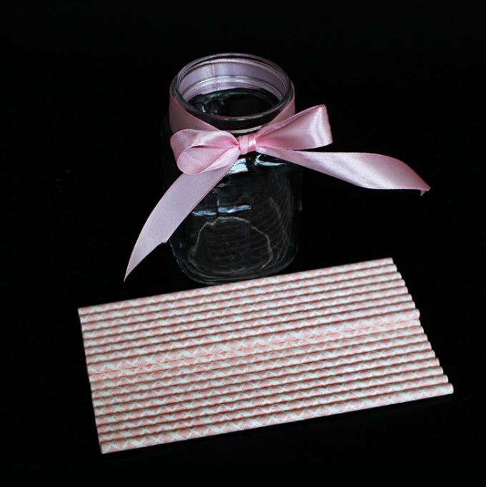 Pollution Free Colorful Striped Straws , Non Toxic Fancy Straws For Weddings