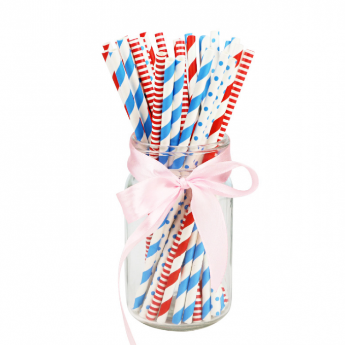 Colorful Decorating Paper Art Straws For Christmas Thanksgiving Party