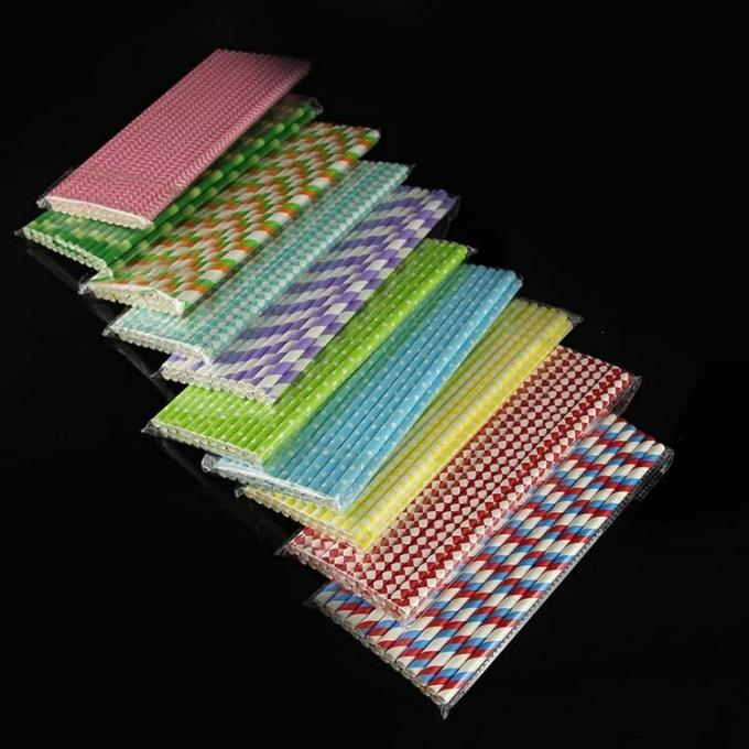 Very beautiful Decorative colored Paper Drinking Straws Fit Family Gatherings