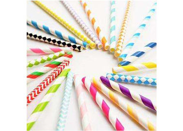 China Degrading Kraft Paper Colored Paper Straws Long 20cm With Caliber 0.5cm supplier