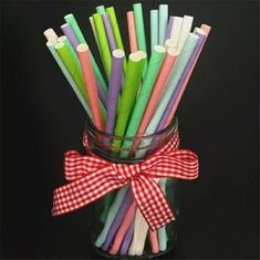 China Very beautiful Decorative colored Paper Drinking Straws Fit Family Gatherings supplier
