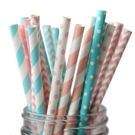A variety of flower and color mixed color paper straw with spiral wave pattern