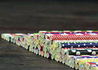 Carbonated Drinks Striped Party Straws Bottled Soybean Milk Paper Straws