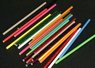 OEM Orange Litchi Pear Juice Solid Color Paper Straws , Fancy Straws For Drinks