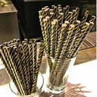 Environment Friendly Colored Paper Straws , Striped Paper Drinking Straws colored paper straws